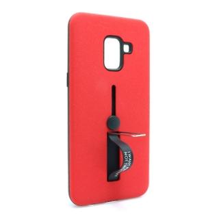 Futrola Finger Strap za Samsung A530F Galaxy A8 2018 crvena