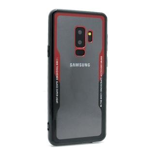 Futrola BACK CLEAR za Samsung G965F Galaxy S9 Plus crno-crvena