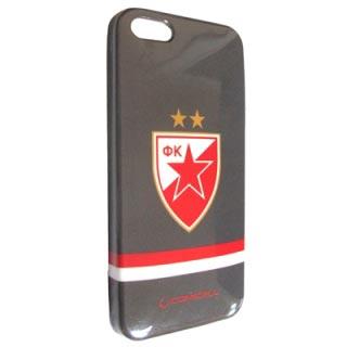 Futrola silikon Comicell Crvena zvezda za Iphone 5G/5S model 2