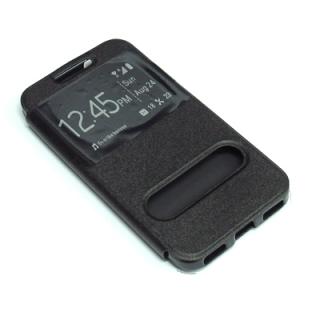 Futrola BI FOLD silikon za Alcatel OT-6037K Idol 2 crna
