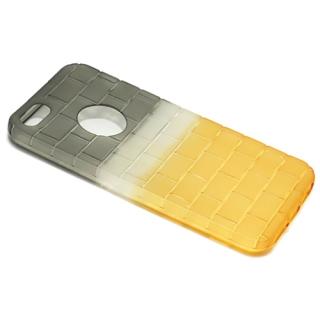Futrola silikon BRICKS za Iphone 5G/ Iphone 5S/ Iphone SE sivo-zuta