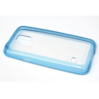 Bumper TRANSPARENT BACK za Samsung G800 Galaxy S5 mini plavi