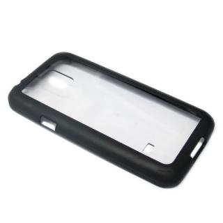 Bumper TRANSPARENT BACK za Samsung G800 Galaxy S5 mini crni