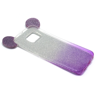 Futrola GLITTER MOUSE za Samsung G925 Galaxy S6 Edge srebrno/ljubicasta