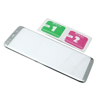 Folija za zastitu ekrana GLASS 3D za Samsung G950F Galaxy S8 zakrivljena srebrna