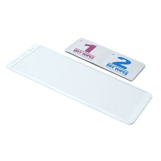 Folija za zastitu ekrana GLASS 3D za Samsung N950F Galaxy Note 8 zakrivljena bela
