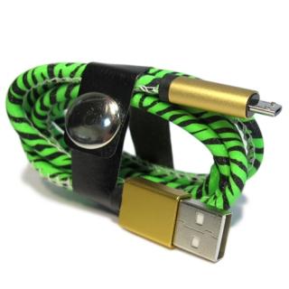 USB data kabal LEATHER safe microUSB 004