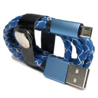 USB data kabal LEATHER safe microUSB 007
