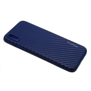 Futrola PLATINA CARBON za Iphone X plava