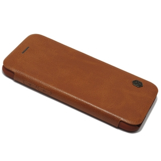 Futrola NILLKIN QIN za Iphone X braon