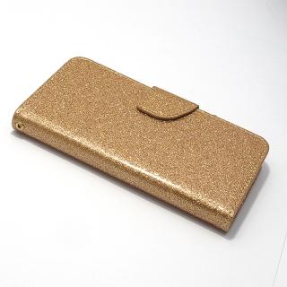 Futrola BI FOLD GLITTER za Samsung G955F Galaxy S8 Plus zlatna