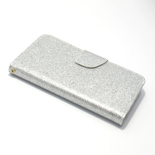 Futrola BI FOLD GLITTER za Samsung J530F Galaxy J5 2017 (EU) srebrna