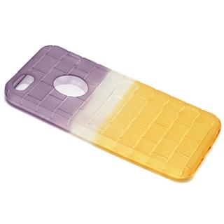 Futrola silikon BRICKS za Iphone 5G/ Iphone 5S/ Iphone SE ljubicasto-zuta