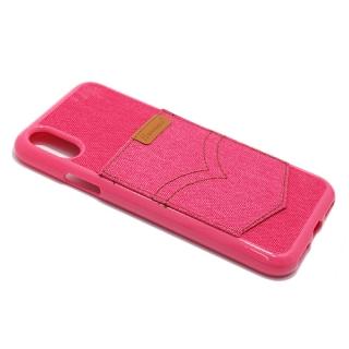 Futrola silikon HANMAN za Iphone X pink