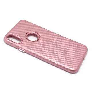 Futrola silikon CARBON za Iphone X roze