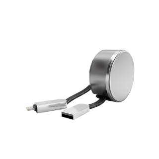 USB data kabal LDNIO LC90 2in1 za Iphone lightning/microUSB 1m srebrni