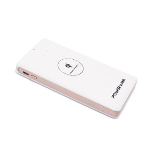 Power bank 10000mAh + bezicni punjac (WiFi) belo-roze