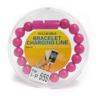 USB kabal BRACELET za Iphone lightning pink