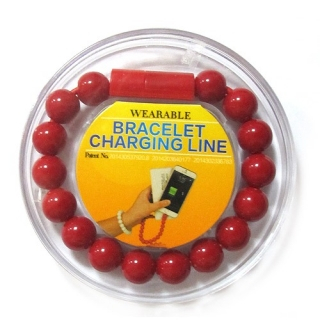 USB data kabal BRACELET microUSB crveni