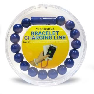 USB data kabal BRACELET microUSB plavi