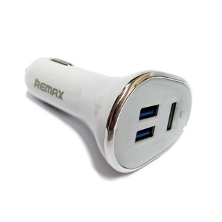 Auto punjac REMAX 3 USB/6.3A beli
