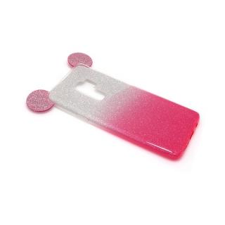 Futrola GLITTER MOUSE za Samsung G965F Galaxy S9 Plus srebrno/pink