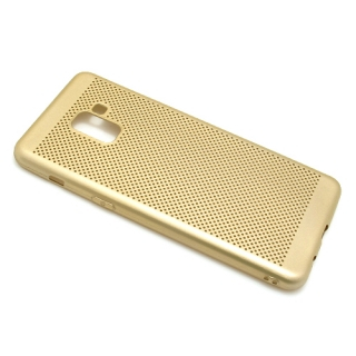 Futrola silikon BREATH za Samsung A730F Galaxy A8 Plus 2018 zlatna