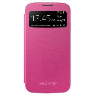 Samsung maska sa preklopom i prozorom S4 pink