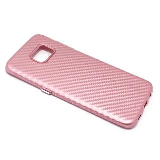 Futrola silikon CARBON za Samsung G935 Galaxy S7 Edge roze