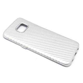 Futrola silikon CARBON za Samsung G935 Galaxy S7 Edge srebrna