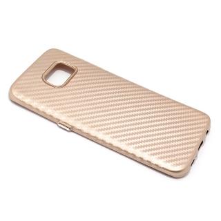 Futrola silikon CARBON za Samsung G935 Galaxy S7 Edge zlatna