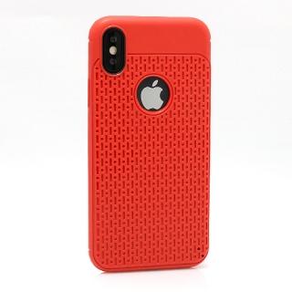 Futrola silikon DROPS za Iphone X crvena