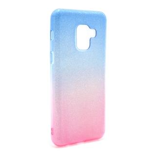 Futrola DOUBLE GLITTER za Samsung A530F Galaxy A8 2018 plavo/pink
