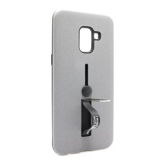 Futrola Finger Strap za Samsung A530F Galaxy A8 2018 siva