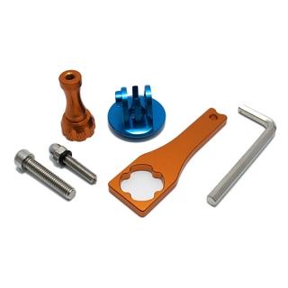 Aluminijumski set za Gopro Hero 4s/4/3+3/2/1 sa kljucem plavo-narandzasti
