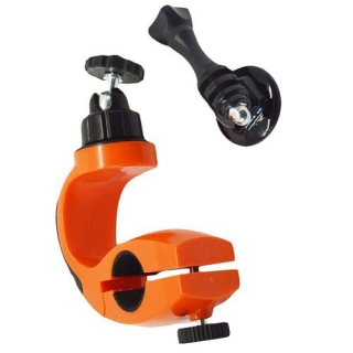 Drzac za bicikl rotacioni za GoPro Hero 4s/4/3+/3/2/1 narandzasti