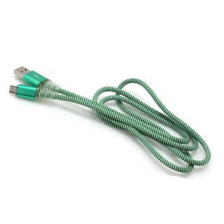 USB data kabal LED micro zeleni