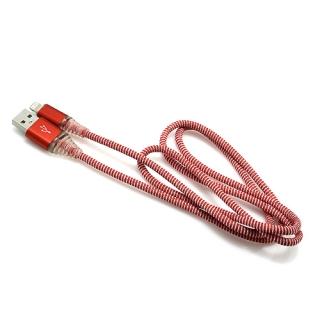 USB data kabal LED za Iphone lightning crveni