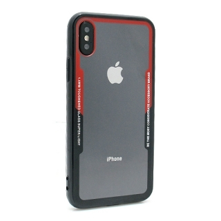 Futrola BACK CLEAR za Iphone X/ Iphone XS crno-crvena