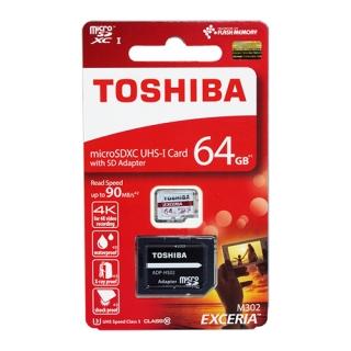 Memorijska kartica Toshiba Micro SD 64GB Class 10 UHS U1 + SD adapter