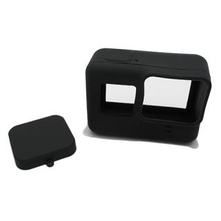 Silikonska maska za GoPro 5 + maska za objektiv crna