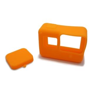 Silikonska maska za GoPro 5 + maska za objektiv narandzasta