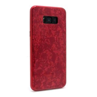 Futrola GLASS Crystal za Samsung G955F Galaxy S8 Plus crvena