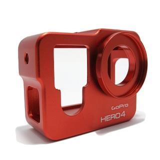 Zastitni metalni okvir za GoPro Hero 4 crveni