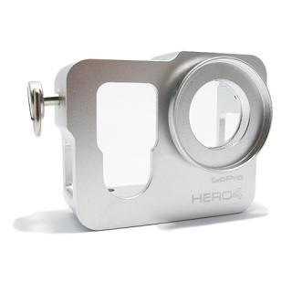Zastitni metalni okvir za GoPro Hero 4 srebrni