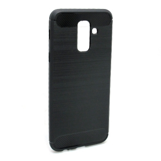 Futrola silikon BRUSHED za Samsung A605G Galaxy A6 Plus 2018 crna