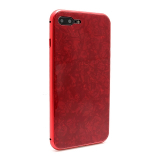 Futrola Magnetic Glass Crystal za Iphone 7 Plus/Iphone 8 Plus crvena