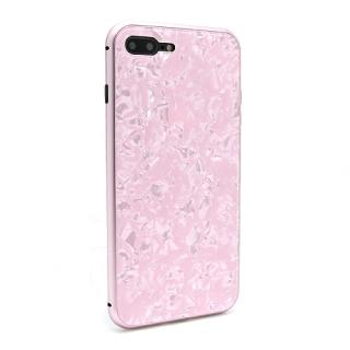 Futrola Magnetic Glass Crystal za Iphone 7 Plus/Iphone 8 Plus roze