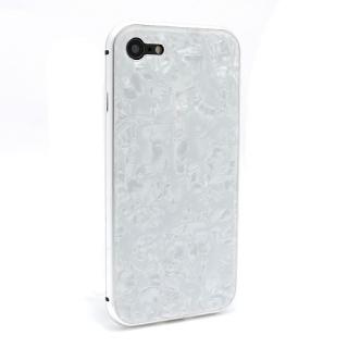 Futrola Magnetic Glass Crystal za Iphone 7/Iphone 8 bela