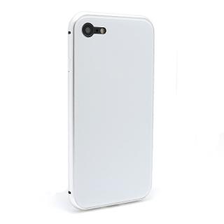 Futrola Magnetic Glass Frame za Iphone 7/Iphone 8 bela